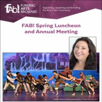 Funding Arts Broward (FAB!) Spring Luncheon Featuring Janet Erlick on Tuesday, March 12