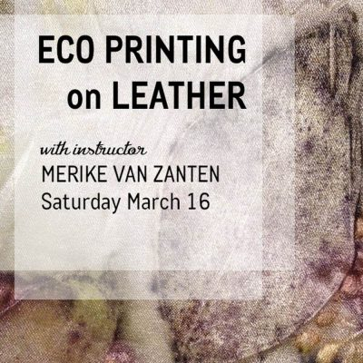 Eco Printing on Leather Workshop