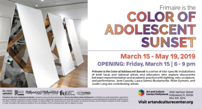 Frimaire is the Color of Adolescent Sunset Exhibition