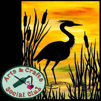 "BYOB Painting Class - ""Everglades Heron"""
