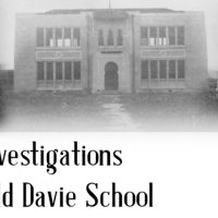 Ghost Investigations at the Old Davie School