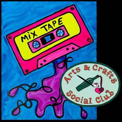 """BYOB BLACKLIGHT/Glow Paint Class - """"Mix Tape"""""""