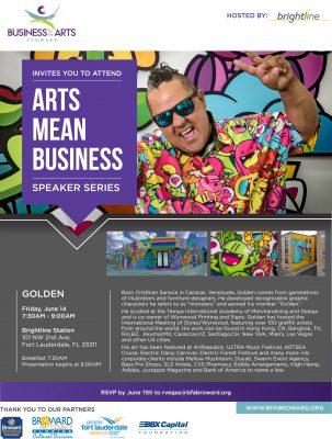 "Arts Mean Business Speaker Series • Cristhian ""Golden"" Saravia"