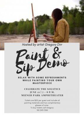 Paint and Sip Demo at Mizner Park