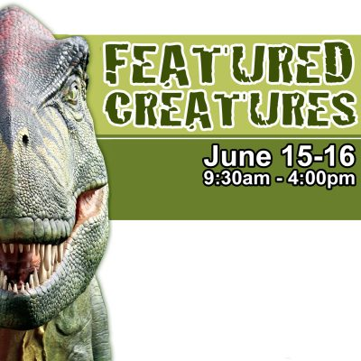 Featured Creatures Dinosaur Weekend at Flamingo Ga...