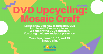 DVD Upcycling: Turning DVD's into Mosaic Craft