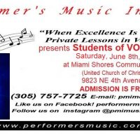 Performer's Music Institute MIAMI presents: STUDENTS OF VOICE IN RECITAL