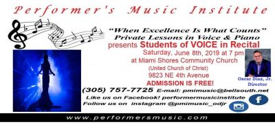 Performer's Music Institute MIAMI presents: STUDEN...