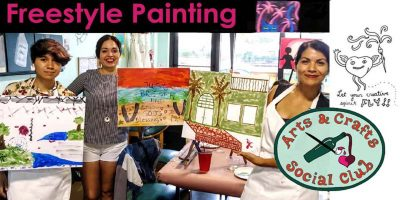 ArtWalk Freestyle Paint and Sip Session