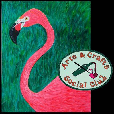 "BYOB Painting Class ""Flamingo"" • Arts and Crafts..."