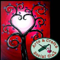 """BYOB Painting Class """"Tree of Hearts"""" • Arts and Crafts Social Club"""