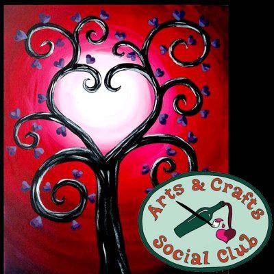 "BYOB Painting Class ""Tree of Hearts"" • Arts and ..."