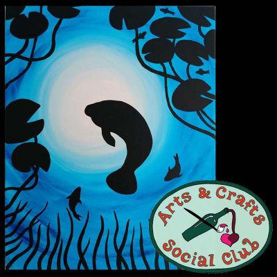 "BYOB Painting Class ""Manatee"" • Arts and Crafts Social Club"