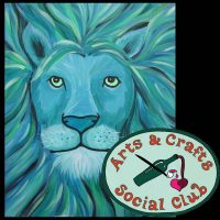 "BYOB Painting Class ""Aqua Lion"" • Arts and Crafts Social Club"