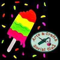 "BYOB BLACKLIGHT/Glow Paint Class ""Rainbow Pop"" • Arts and Crafts Social Club"