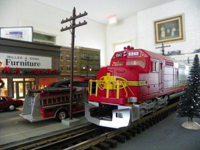 Model Train Exhibit at Old Davie School Museum