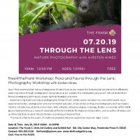 Free at the Frank Workshop: Flora and Fauna through the Lens – Photography Workshop