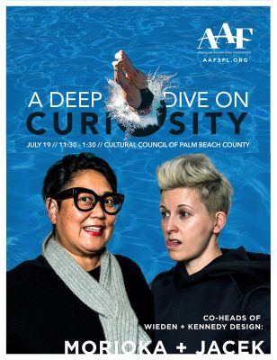 """Co-heads of Wieden + Kennedy Design Lecture: """"A Deep Dive on Curiosity"""""""