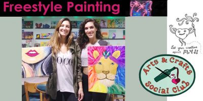 Freestyle Paint and Sip Session • Arts and Craft...