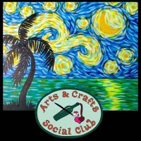 "BYOB Painting Class ""Tropical Starry Night"" • Arts and Crafts Social Club"