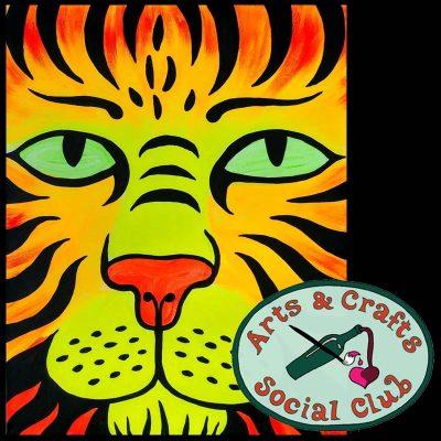 "BYOB BLACKLIGHT/Glow Paint Class ""Tiger Bright"" • Arts and Crafts Social Club"