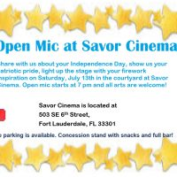 Open Mic at Savor Cinema