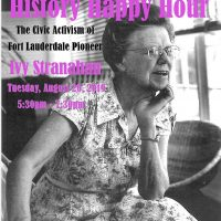 History Happy Hour: The Civic Activism of Ivy Stranahan