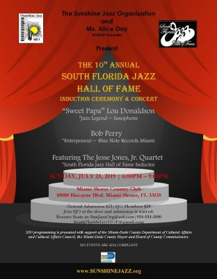 The 10th Annual South Florida Jazz Hall of Fame In...