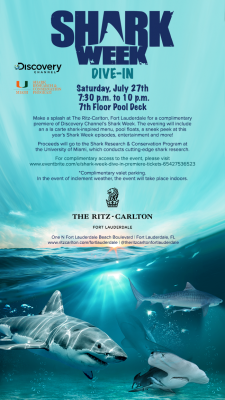 Shark Week Dive-In at The Ritz-Carlton Fort Lauder...
