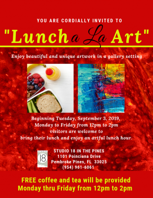 Lunch a la Art at Studio 18 in the Pines