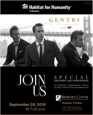 The Gentlemen Trio Benefit Concert for Habitat Broward