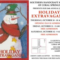 "26th Annual ""Holiday Extravaganza by the Coral Springs Chapter Southern Handcraft Society's"