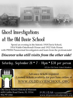 GHOST INVESTIGATIONS at Old Davie School