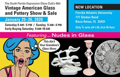 Vintage American Glass and Pottery Show and Sale