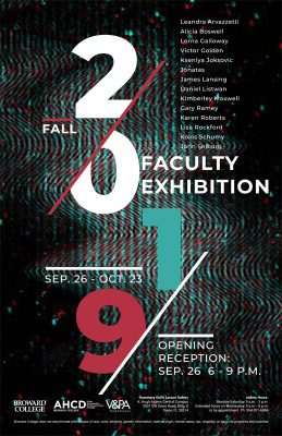 2019 Fall Faculty Exhibition