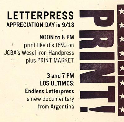 JCBA's 10th Annual Letterpress Appreciation Day Op...