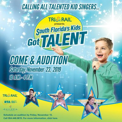 "Tri-Rail Auditions for ""South Florida Kid's go..."