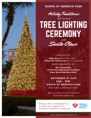 Tree Lighting Ceremony at Merrick Park