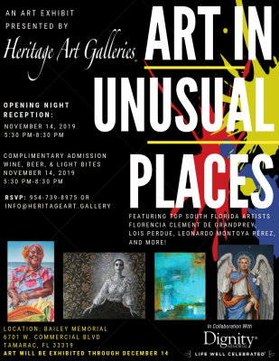 Art in Unusual Places Exhibition
