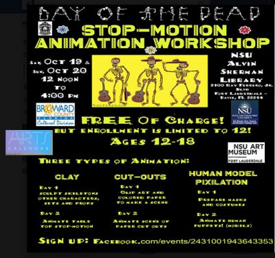 Day of the Dead Stop Motion Animation Workshop