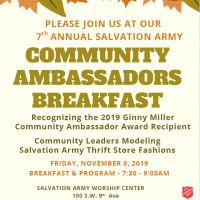 The Salvation Army 7th Annual Community Ambassadors Breakfast and Runway Show