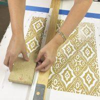 Pattern Block Printing on Fabric