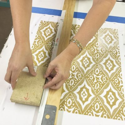 Pattern Block Printing on Fabric