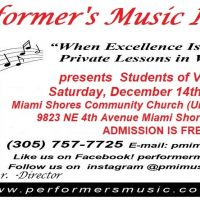 Students of Voice in Recital presented by Performer's Music Institute