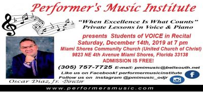 Students of Voice in Recital presented by Performe...