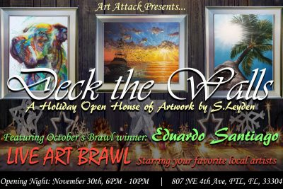 Deck the Walls: Opening Night and Art Brawl