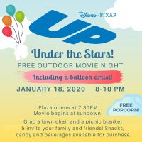 """Up"" Under the Stars – Movie Night on the Plaza"