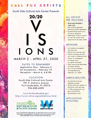 """20/20 Visions"" Call for Artists"