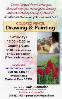 Colored Pencil Classes with Galal Ramadan