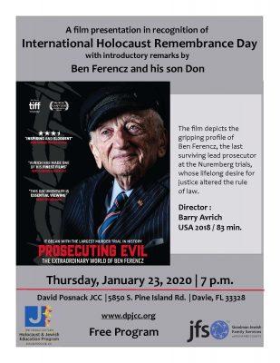 Special Film Presentation of Prosecuting Evil